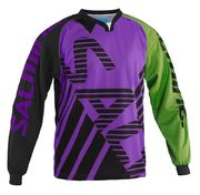 Salming Travis Goalie JSY V-Neck goalkeeper jersey Purple-Green