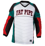 Fat Pipe GK Padded Shirt (White-Green-Red)