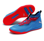 Puma Sharp Fuse Indoors Mens Sports shoes, Blue-Red