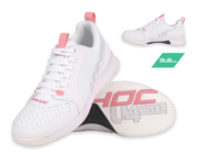 Unihoc U4 (19) Plus LowCut Ladies Indoors Shoes, White/Pink