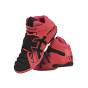 Unihoc U3 Goalie Shoes (Neon Red/Black)