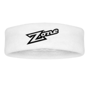Zone Old School White Headband