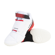 Unihoc U4 Goalie Shoes (20) White-Red