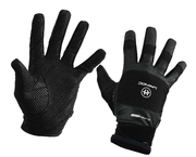 Unihoc SuperGrip Goalie Gloves (Black)