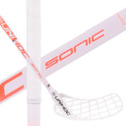 Unihoc Sonic Top Light F30 White/Coral (19) Floorball stick