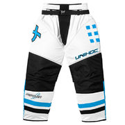 Unihoc Feather - Goalie Pants White/Blue