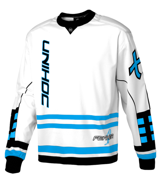 Unihoc Feather Goalie Sweater White/Blue