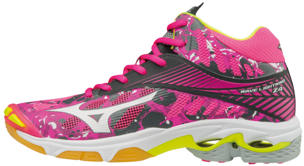 Mizuno Wave Lightning Z4 MID Pink-White-Yellow  -indoor shoe
