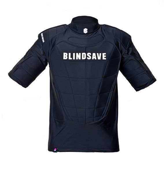 Blindsave Protection Vest (18) with Rebound-control, Short Sleeves, Black