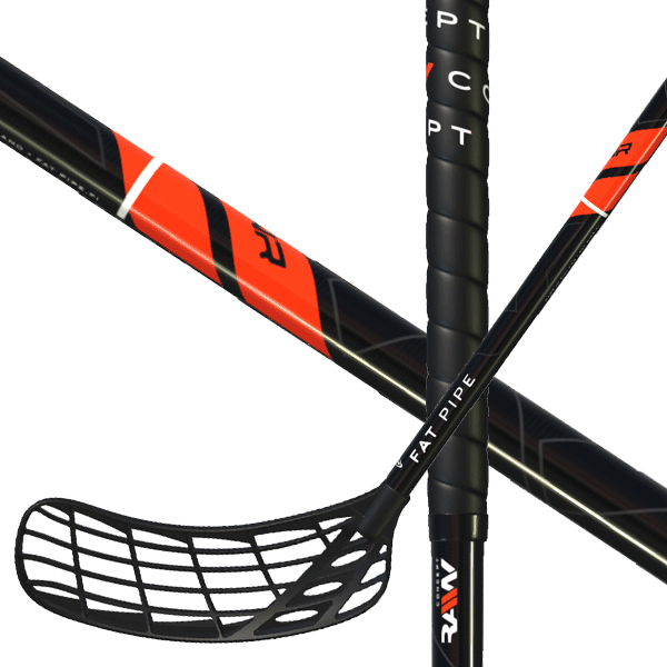 Fat Pipe Raw Concept 27 Red Edition (19) Floorball stick