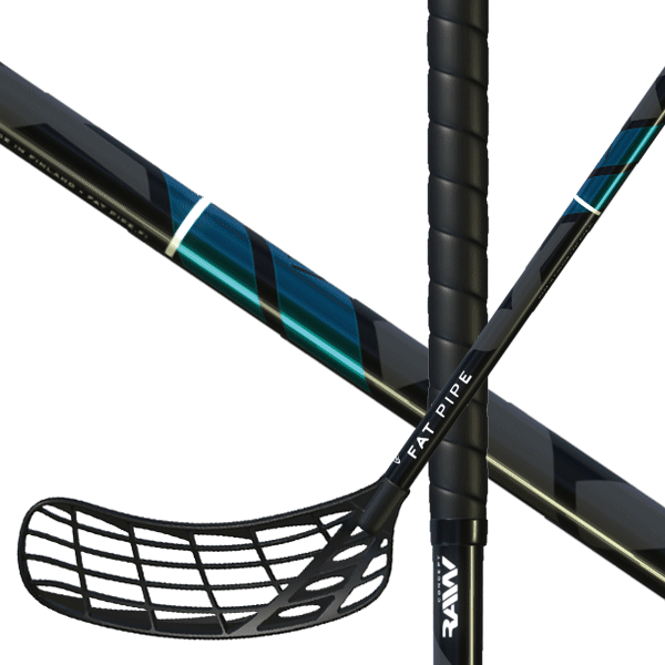 Fat Pipe Raw Concept 27 Turquoise (19) Floorball stick